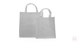 Paperbag with Cotton Lines White