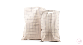 Shipping bags with handle Grid Nude / Blue