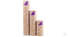 Wrapping Paper Geertje Aalders Sint Ocre - Purple