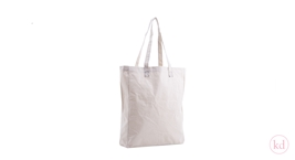 Cotton Bag Naturel Cotton Black Stitching