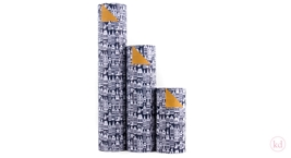 Wrapping Paper Geertje Aalders Sint Dark Blue - Ocre