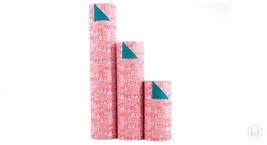 Wrapping paper Geertje Aalders Sint Neon Orange - Grass