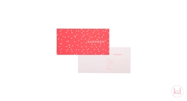 Favourites of Geertje Aalders - Giftcard handdrawn dots neon orange