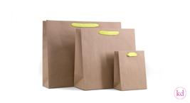 Paperbag Kraft with Neon Yellow Handles