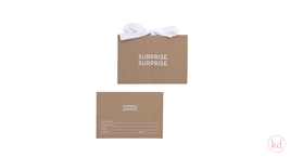 Luxury envelope + Giftcard Kraft / White