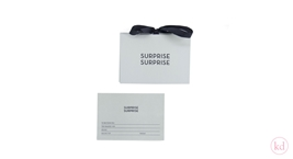 Luxury envelope + Giftcard Mint / Black