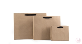 Paperbag Kraft with Black Handles