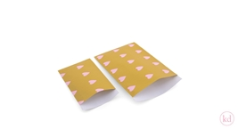 Flatbags Love Heart Ochre / Baby Pink