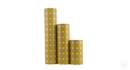Wrappingpaper Love Heart Ochre / Baby Pink