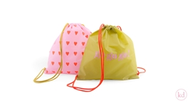 Nylon Drawstring Bag Love