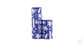 Wrapping paper Geertje Aalders stapeldieren ink blue
