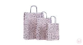 Paperbag twisted handle Terrazzo Soft Pink / Dark Blue
