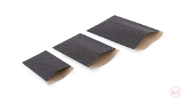 Flatbags Mini Triangle Black / Kraft