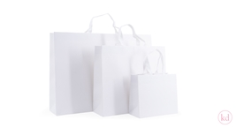 Luxury Paperbag White With Cotton Ribbon