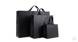 Luxury Paperbag Black With Cotton Ribbon