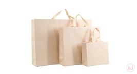 Luxury Paperbag Nude With Cotton Ribbon