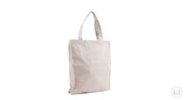 Cotton Bag Natural Cotton White Stitching