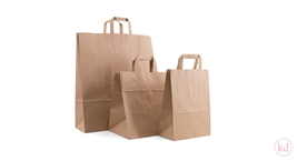 Flathandle brown paperbag