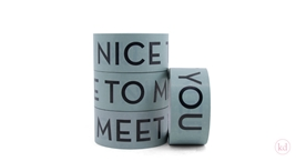 Tape Nice To Meet You Sage Green