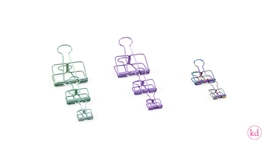 Binder Clips Colored