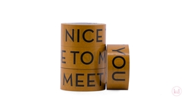 Tape Nice To Meet You Ochre