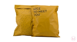 Shipping Bags Nice to Meet You Large Ochre
