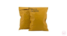 Shipping Bags Hello Im Here Medium Ochre