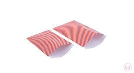 Vlakke Zakken Happy Stripes Sporty Red / Lavender