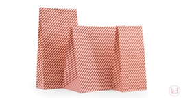 Blokbodemzakken Happy Stripes Soft Pink / Brick Red