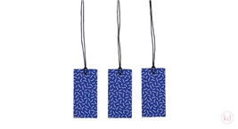 Paper Tags Noortje de Keijzer Waves Confetti Ink Blue