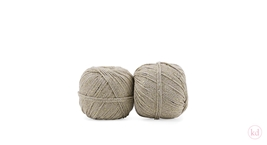 Cotton Twist Cord Taupe / Gold