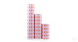 Wrapping paper Love Heart Lavender / Red