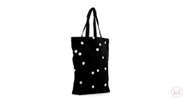Cotton Bag Black + White Dots