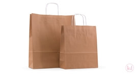 Paperbags twisted handle Caramel