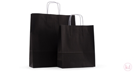 Paperbags twisted handle Black