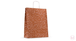 Paperbag twisted handle Terrazzo Rust