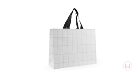 Luxury paper bag Grid White