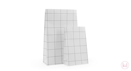 Block Bottom bags Grid Black White