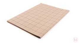 Tissue Papier Grid kraft / black