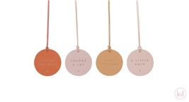 Paper Tags Quotes Coloured