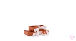 Giftbox with Ribbon Rust