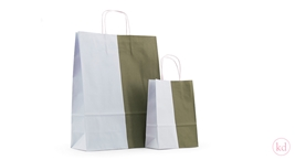 Twisted Handles Paperbag Duo Rosemary green/Frosty blue