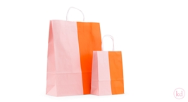 Twisted Handles Paperbag Duo Orange/Lemonade pink