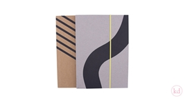 Notebooks Noortje de Keijzer Stripes Confetti + Waves Confetti Large