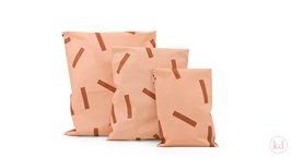 Shipping Bags Confetti Peachy Pink + Rusty Red