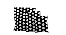 Shipping bags Dots Black