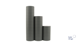 Gift Paper Tall Grid - Greyish Green