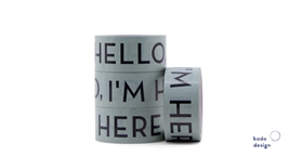 Tape Hello Im Here Sage Green