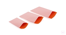 Vlakke Zakken Plain Soft Pink / Orange