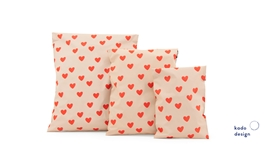 Shipping bags Handdrawn Hearts Lemonade Pink